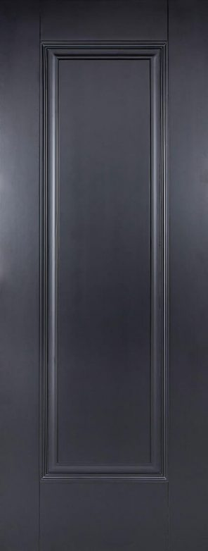 Black primed eindhoven 1 panel internal door