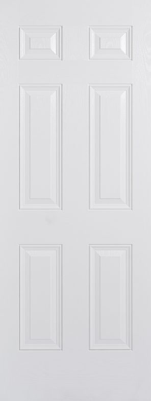 Grp composite white colonial 6p external door