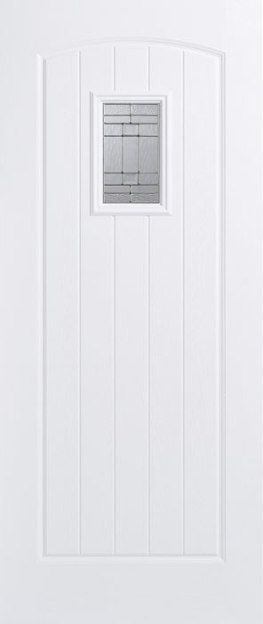 Grp composite white cottage lead double glazed external door