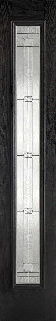 Grp composite black & white lead double glazed external sidelight door
