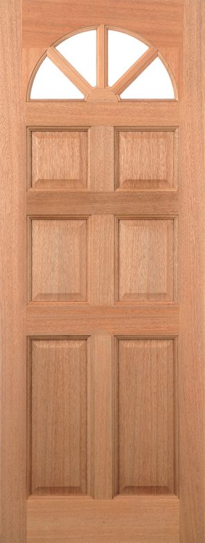 Hardwood carolina 6p dowel external unglazed door