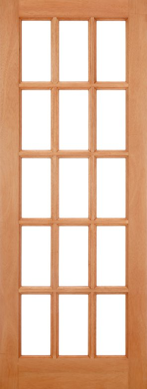 Hardwood sa 15 l unglazed external door