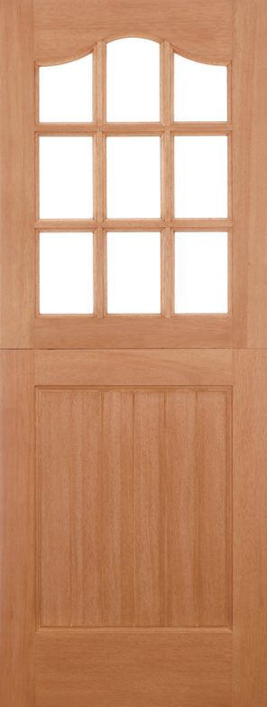 Hardwood stable 9l unglazed external door