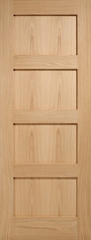 Contemporary oak 4p internal door