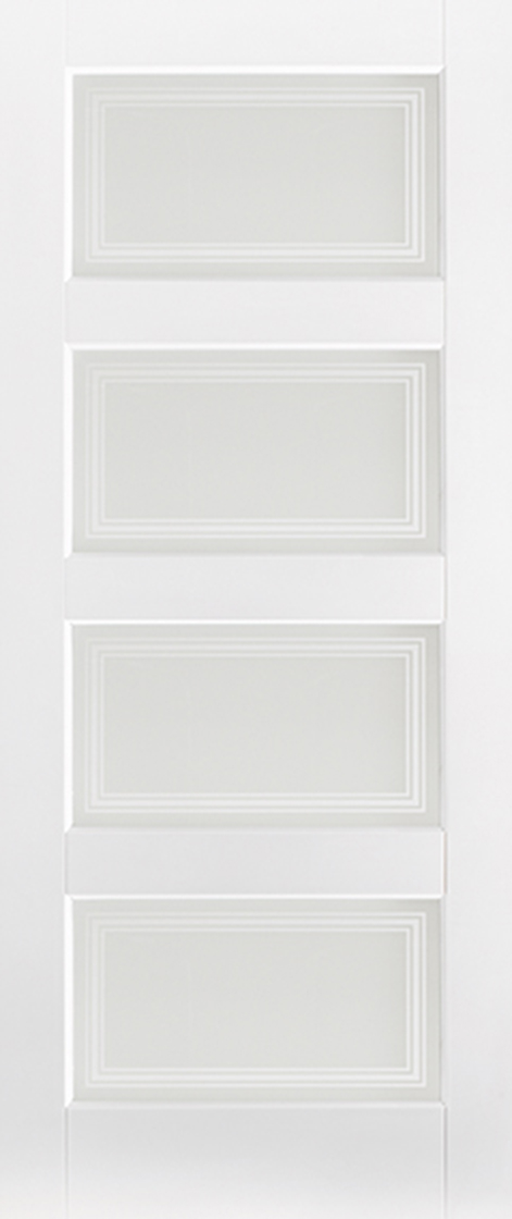 new style ddeb4 36704 White primed contemporary 4l frosted glazed internal door