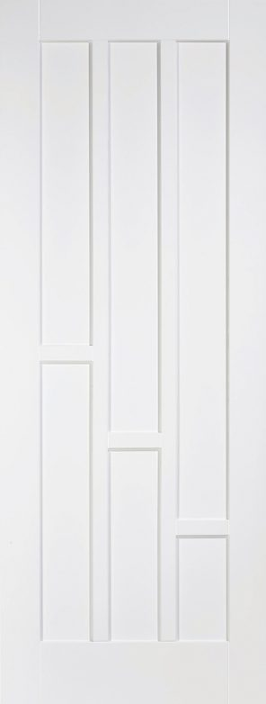White primed coventry 3 panel internal door