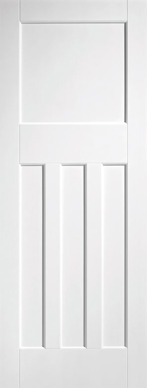 White primed dx30 style internal door