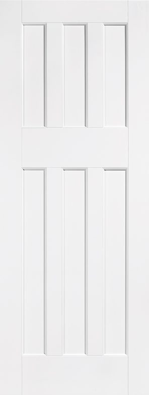White primed dx60 style internal door