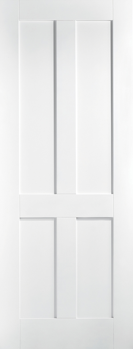 White primed london 4 panel internal door
