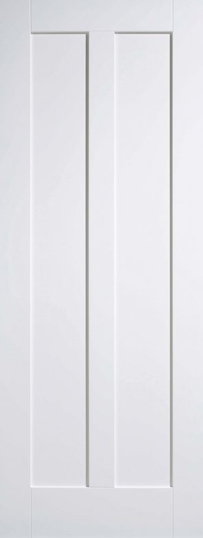 White primed maine 2 panel internal door