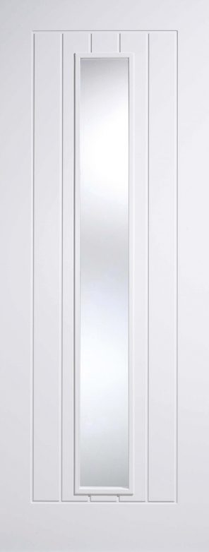 White primed mexicano 1l clear glazed internal door
