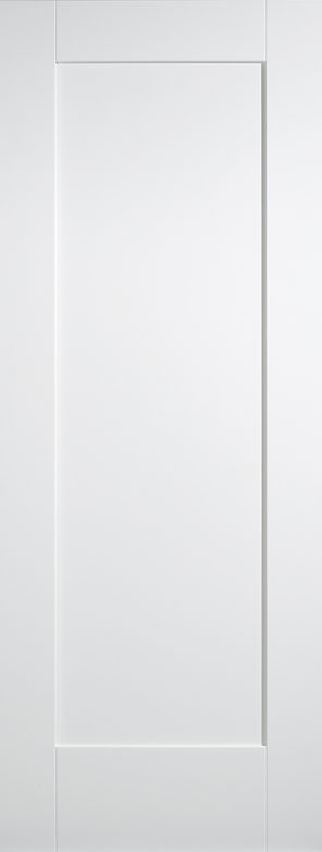 White primed shaker 1 panel internal door