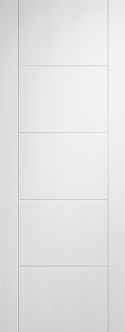 White primed vancouver 5p internal door