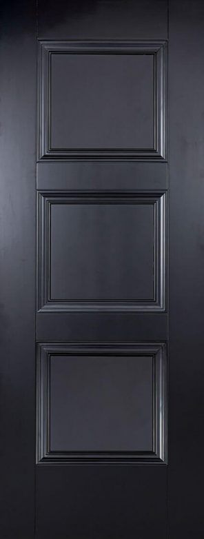 Black primed amsterdam 3p internal door
