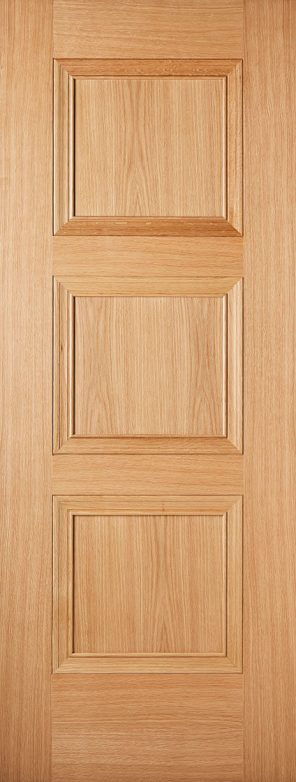 Pre finished oak amsterdam 3 panel internal door