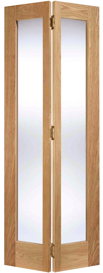 Oak pattern 10 bi fold internal door