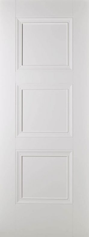 White primed amsterdam 3 panel internal door