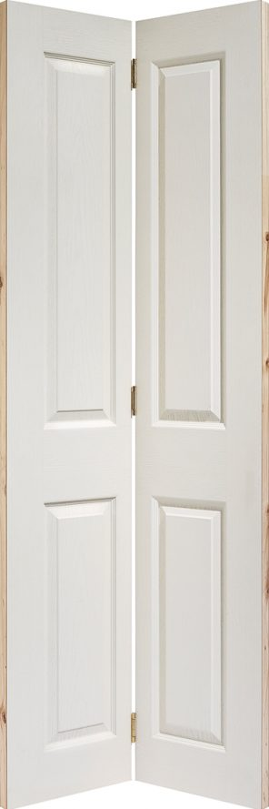 White textured 4p bi fold internal door