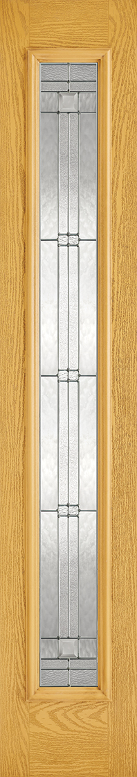 Grp composite oak lead double glazed external sidelight door