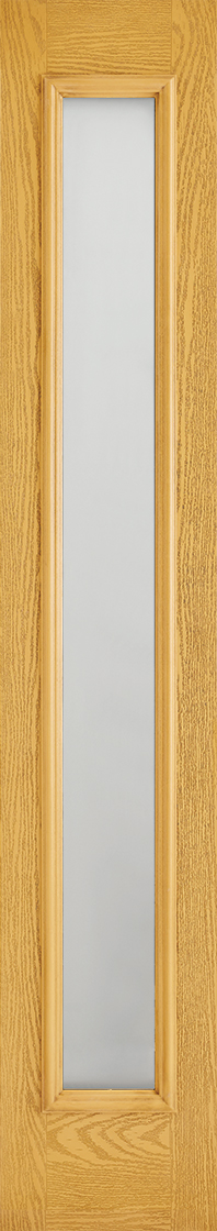 Grp composite oak frosted double glazed external sidelight door