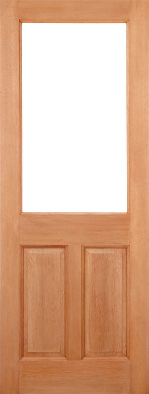 Hardwood mortice & tenons 2xg 2 panel unglazed external door