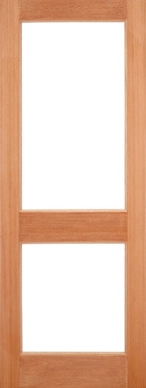 Hardwood mortice & tenons 2xgg unglazed external door