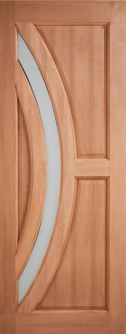 Hardwood mortice & tenons harrow frosted double glazed external door