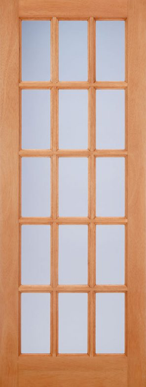 Hardwood mortice & tenons sa77 frosted double glazed external door