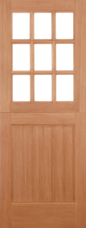 Hardwood mortice & tenons 9l stable unglazed straight top external door