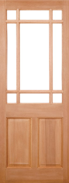 Hardwood mortice & tenons warwick unglazed external door