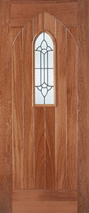 Hardwood mortice & tenons westminster I.G lead double glazed external door