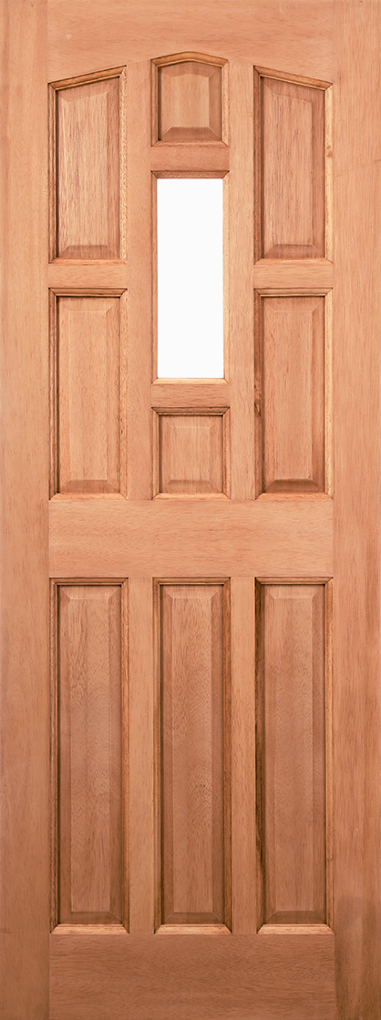 Hardwood mortice & tenons york unglazed external door