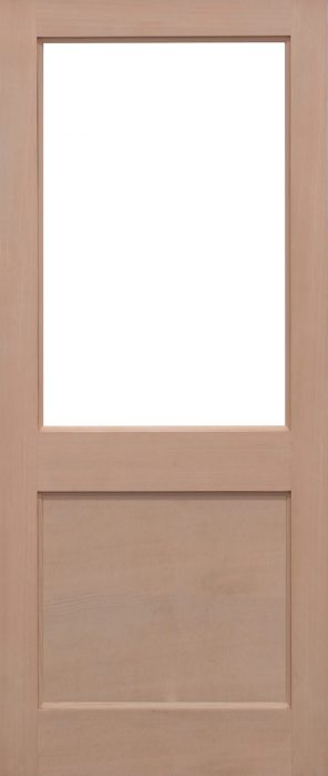 Hemlock 2xg unglazed external door