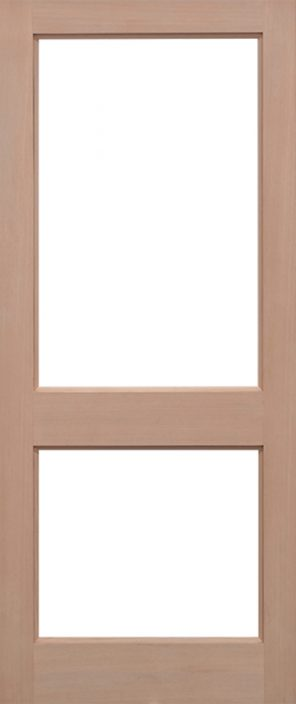 Hemlock 2xgg unglazed external door