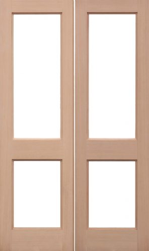 Hemlock 2xgg unglazed external door pairs