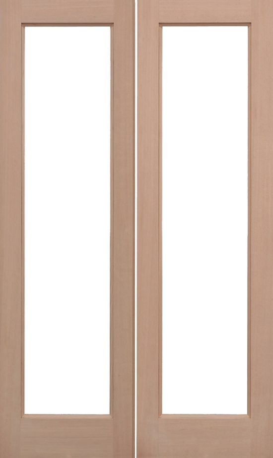 Hemlock pattern 20 unglazed external door pairs