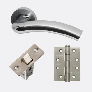 Jupiter polished satin chrome internal hardware pack