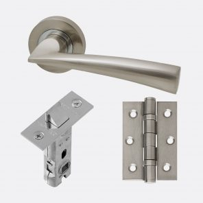 Mars polished chrome & satin nickel internal hardware pack