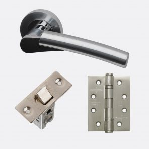 Neptune polished satin chrome internal hardware pack