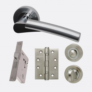 Neptune polished satin chrome internal hardware privacy pack