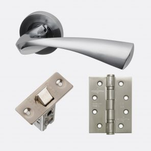 Pluto polished satin chrome internal hardware pack