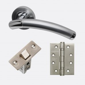 Saturn polished satin chrome internal hardware pack