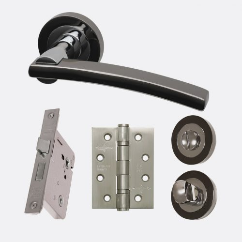 Sirus polished black chrome internal hardware privacy pack