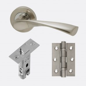 Solar polished chrome & satin nickel internal hardware pack