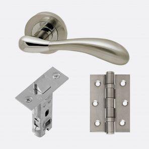 Venus polished chrome & satin nickel internal hardware pack