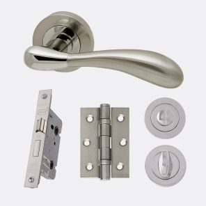 Venus polished chrome & satin nickel internal hardware privacy pack