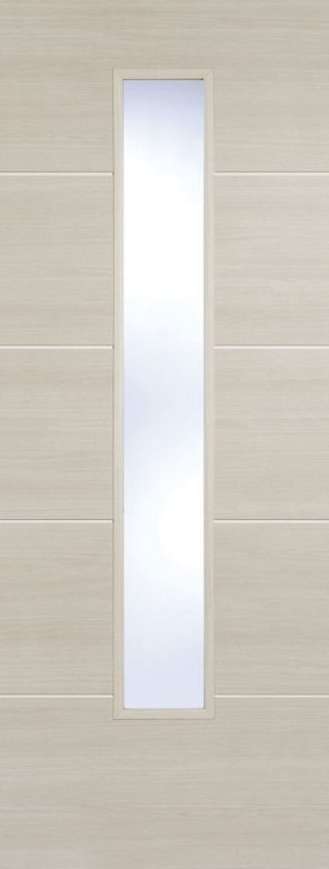 Laminate prefinished ivory santandor 1 lite clear glazed internal door