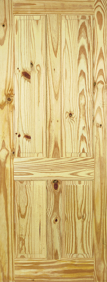 Knotty pine 4 panel internal door