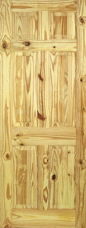 Knotty pine 6 panel internal door