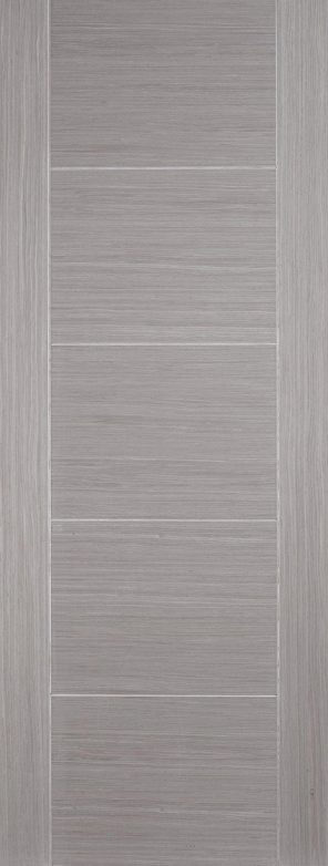 Prefinished light grey vancouver 5 panel internal door